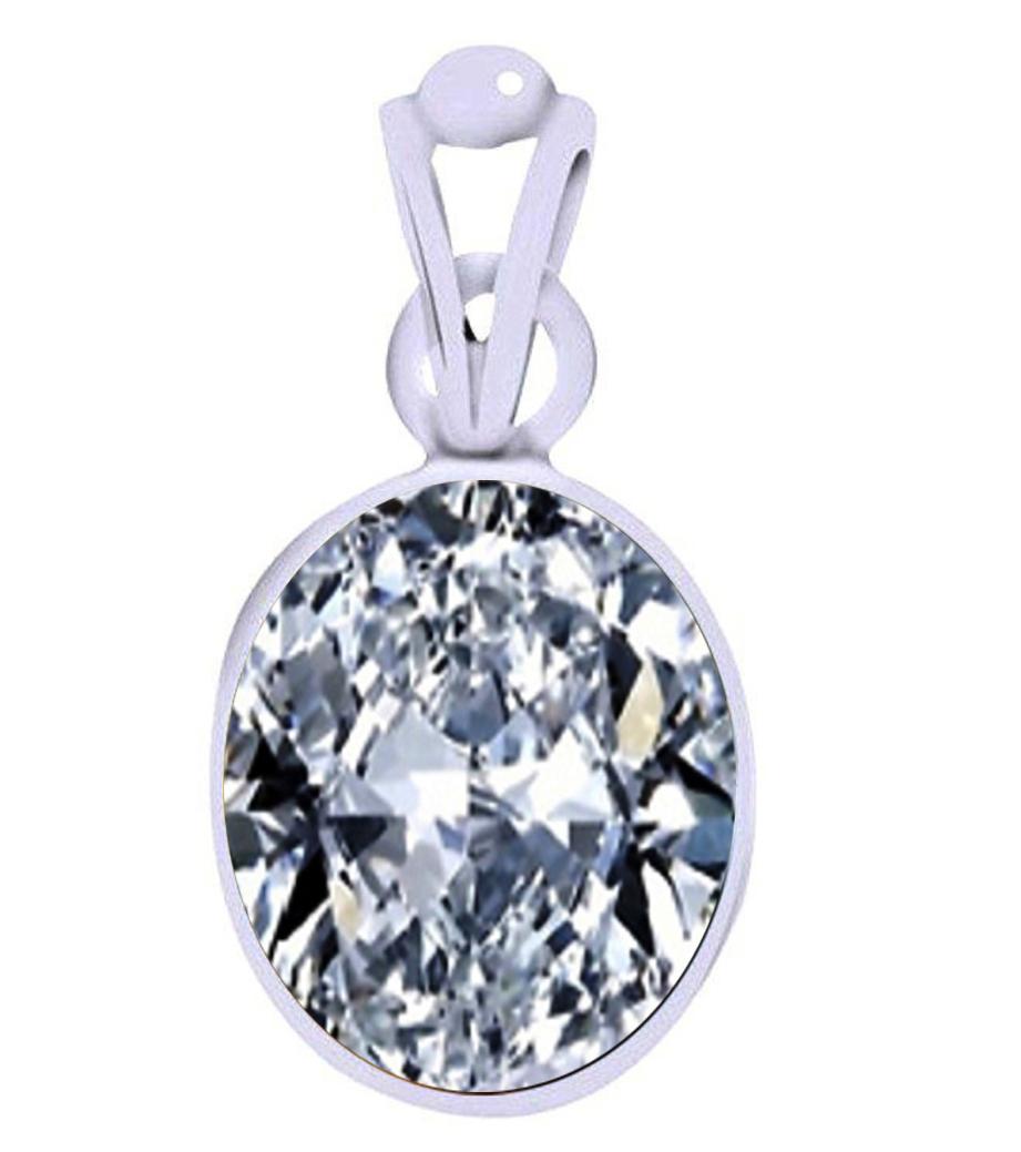 american diamond oval silver