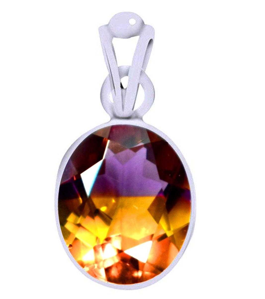 ametrine silver pendant