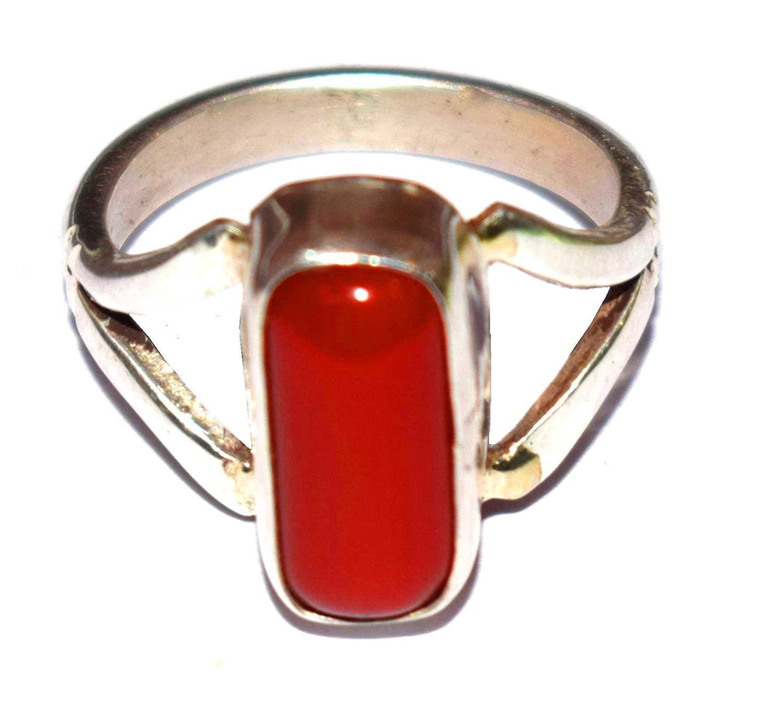 italian moonga silver ring