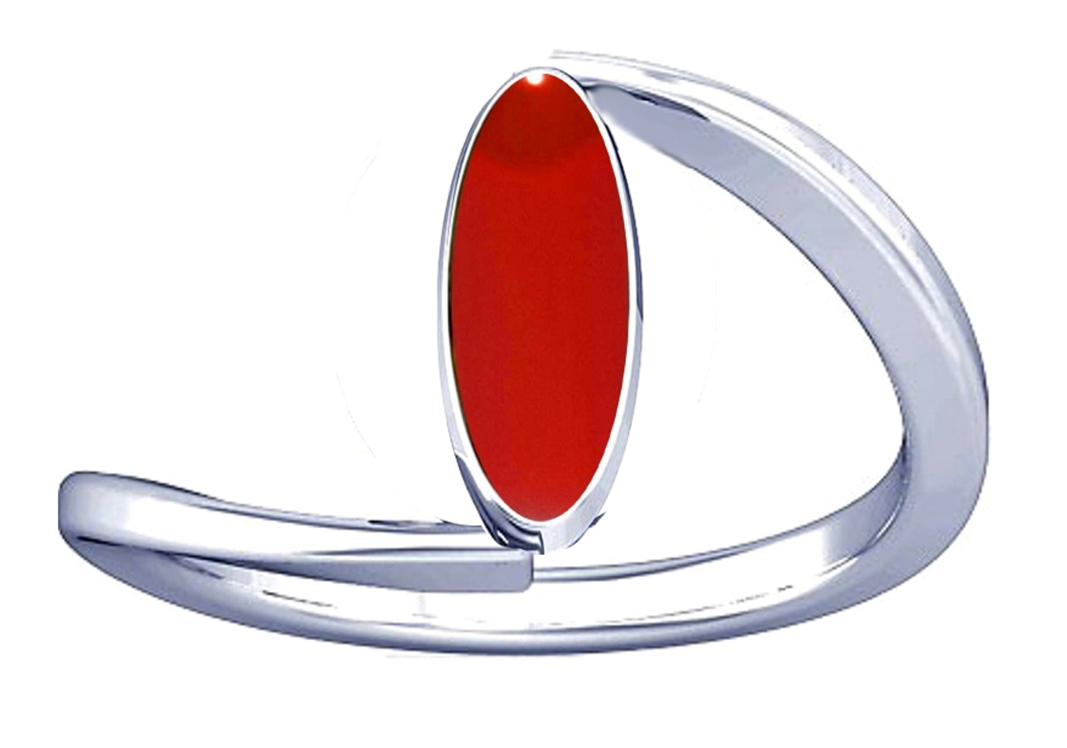itelian red coral silver