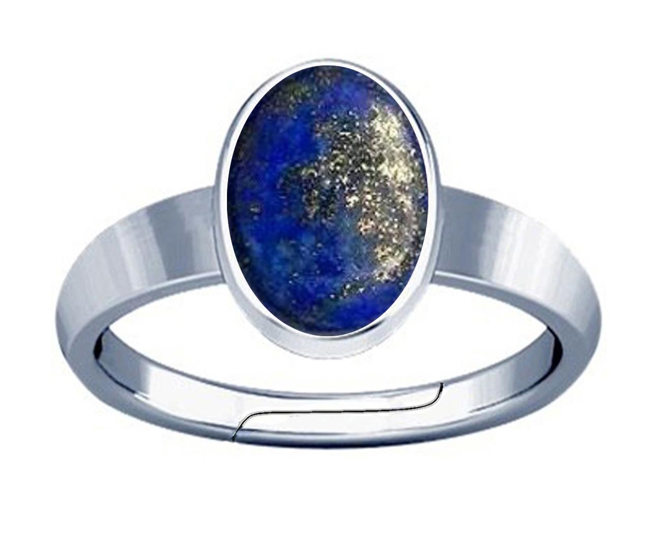 lapis silver plan ring