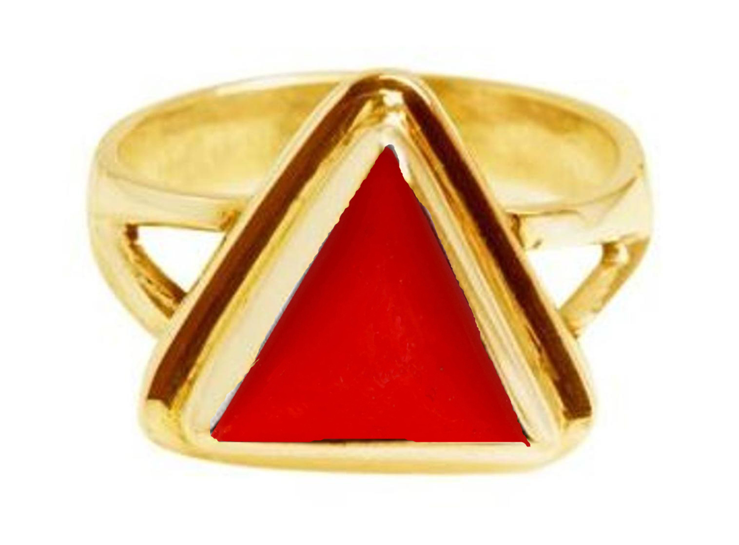 triangle red coral panchdhatu