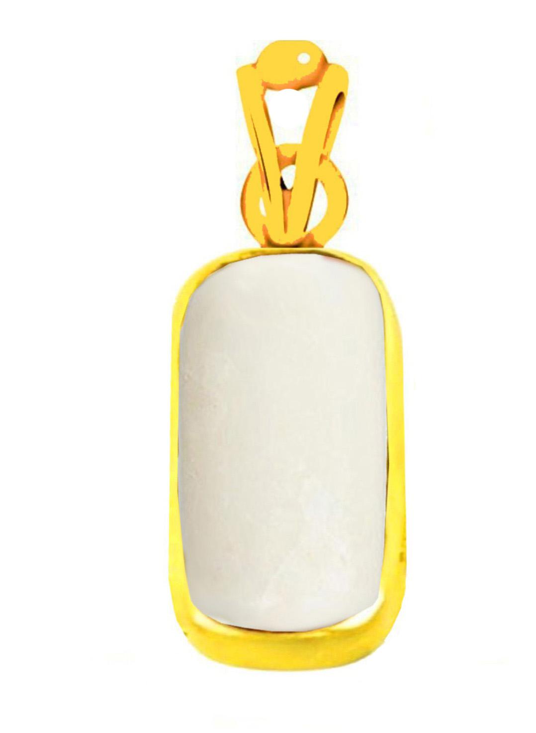 white moonga italian panchadhatu pendant copy