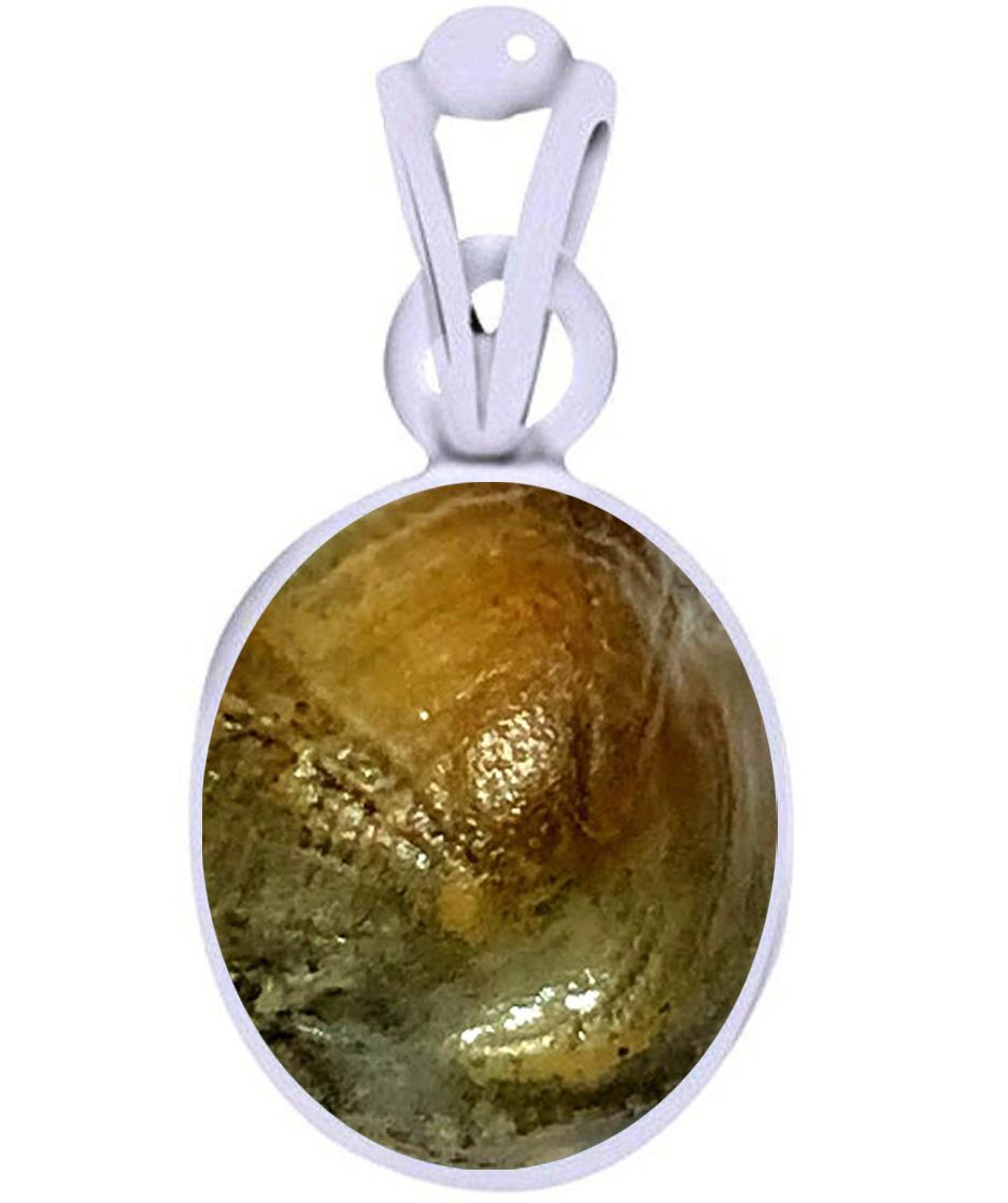 maccha mani silver pendant