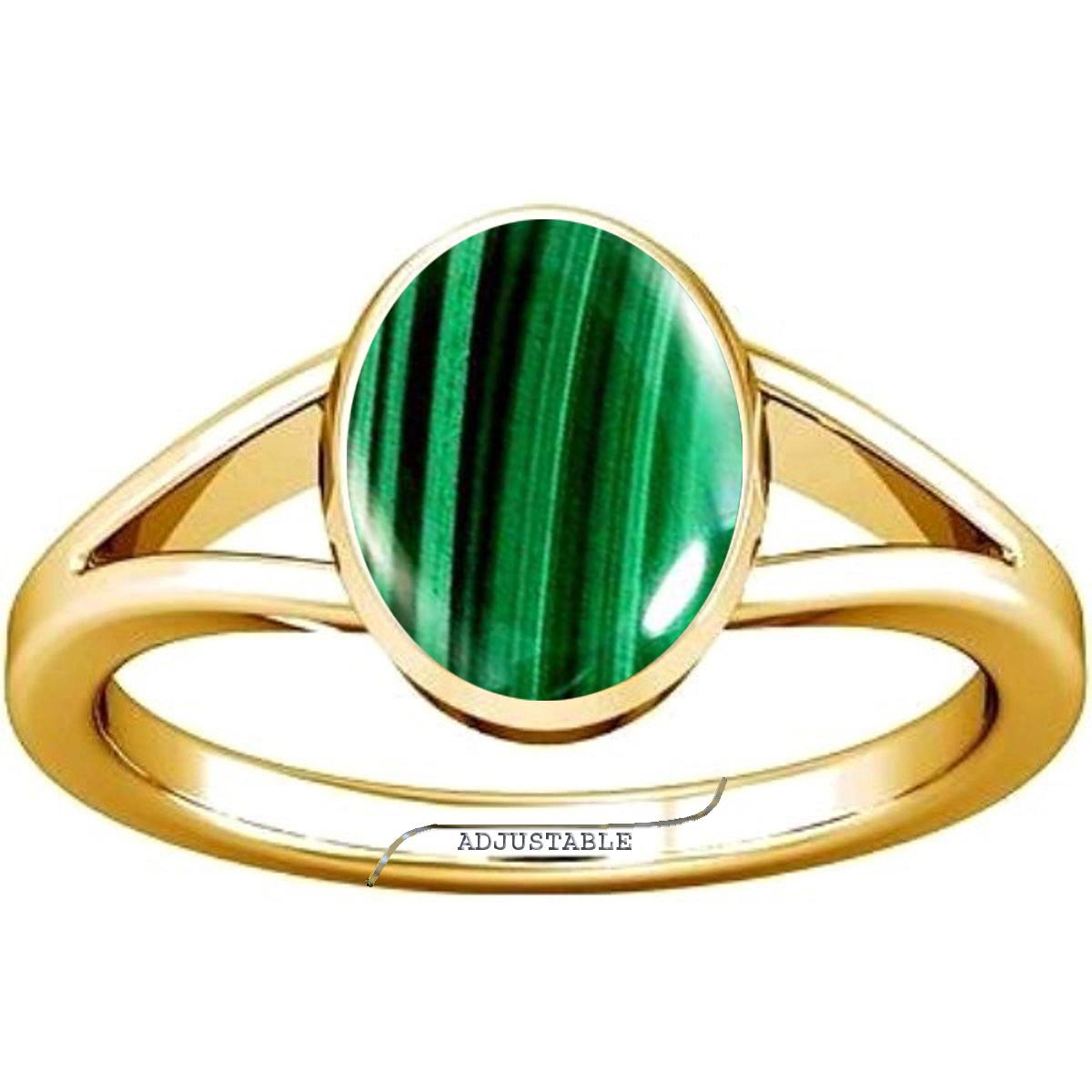 malachite panchdhatu adjustable ring