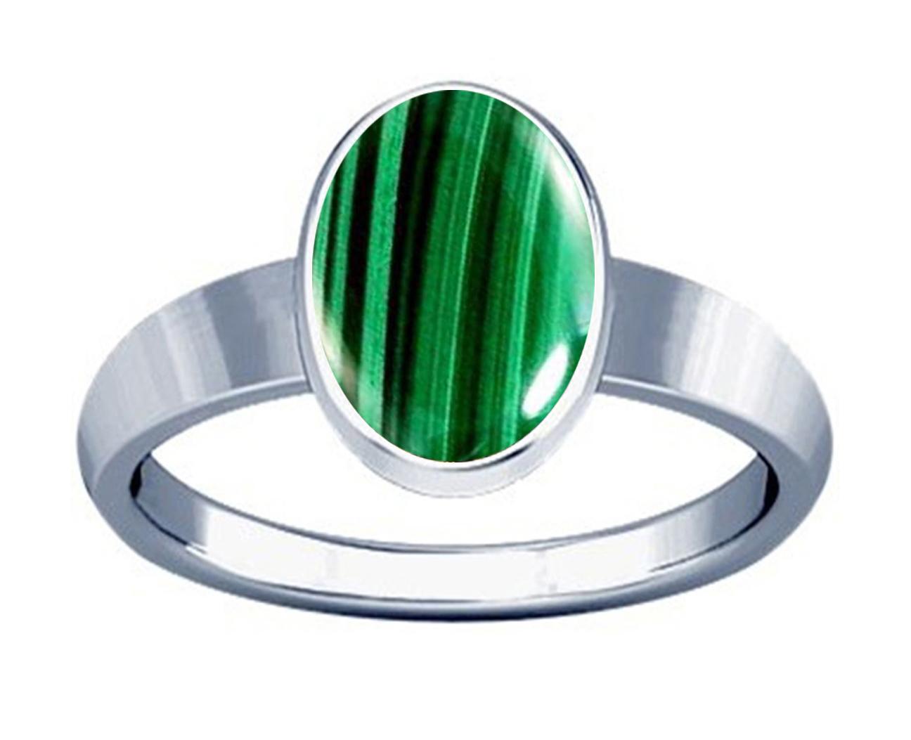 malachite silver plan ring
